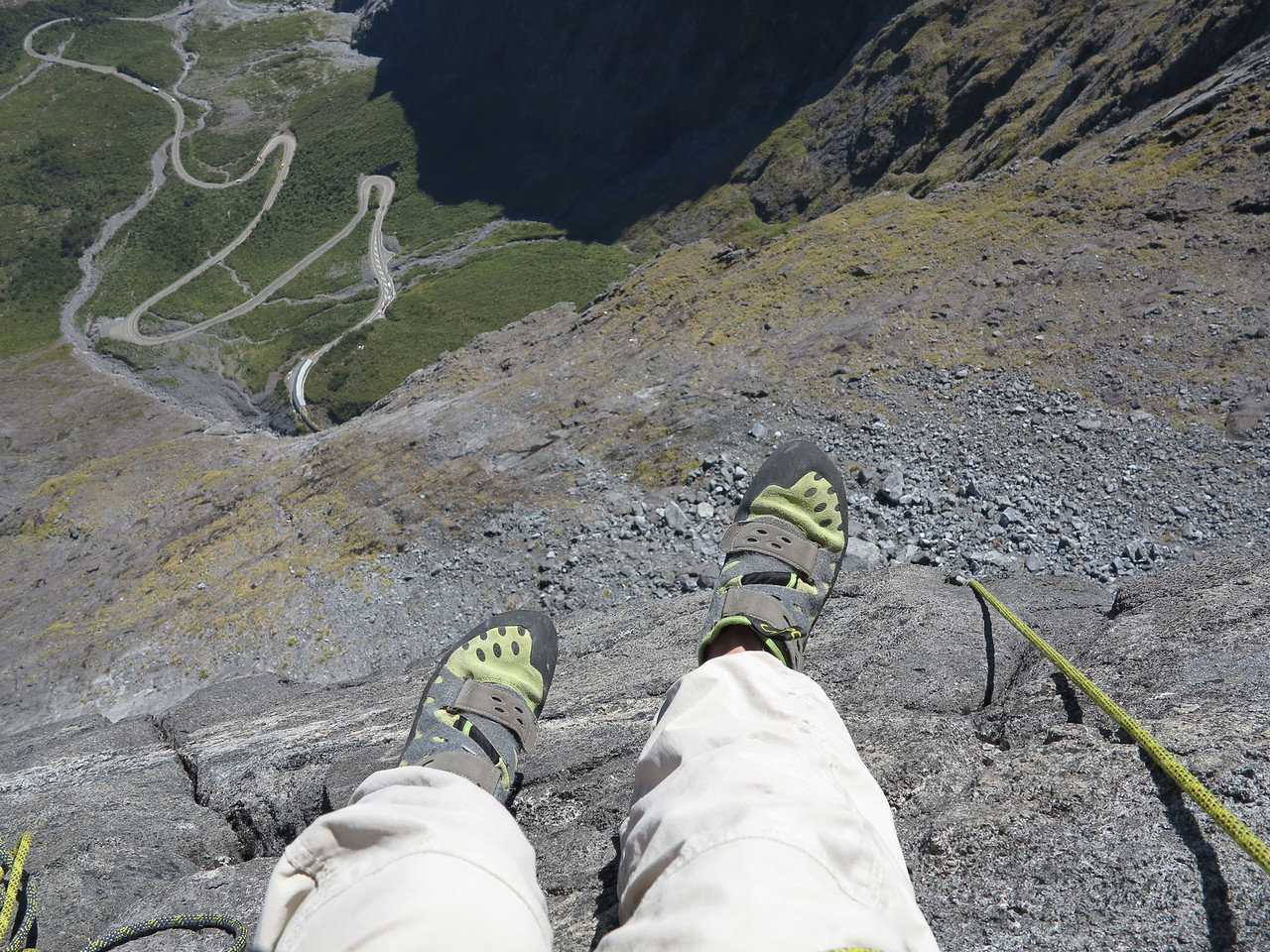 View from the belay above the second pitch