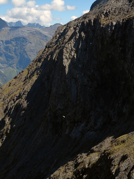 Ben Latham and Russel Wilson jump off Mt Macpherson