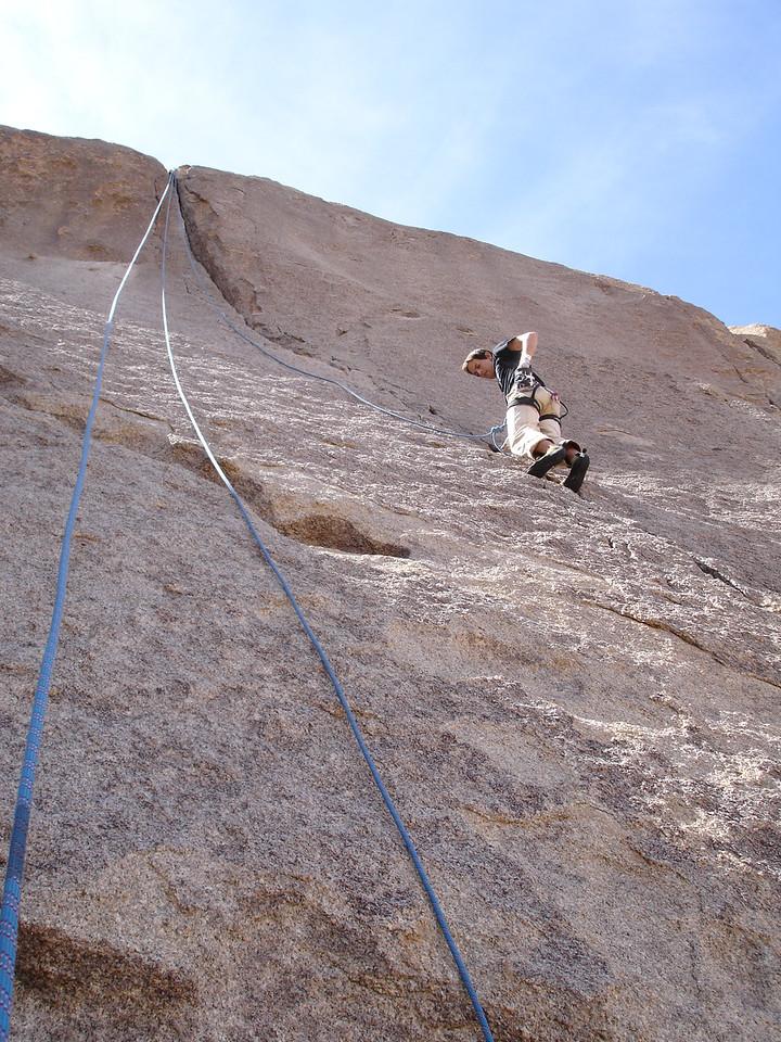 Split Rocks Area. Marty on Bird of Fire (5.10a), Isles In the Sky.