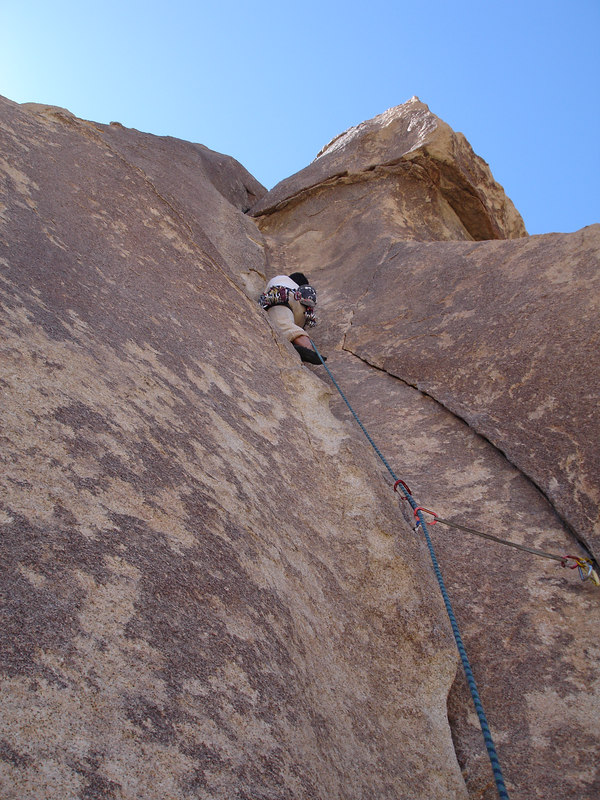 Marty leading Touch and Go (5.9).