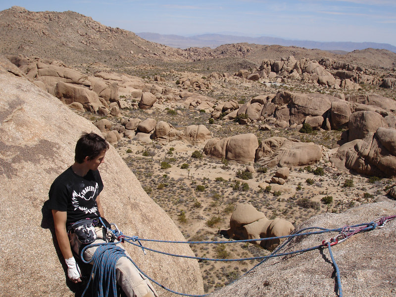 Marty's belay at the top of Dolphin.
