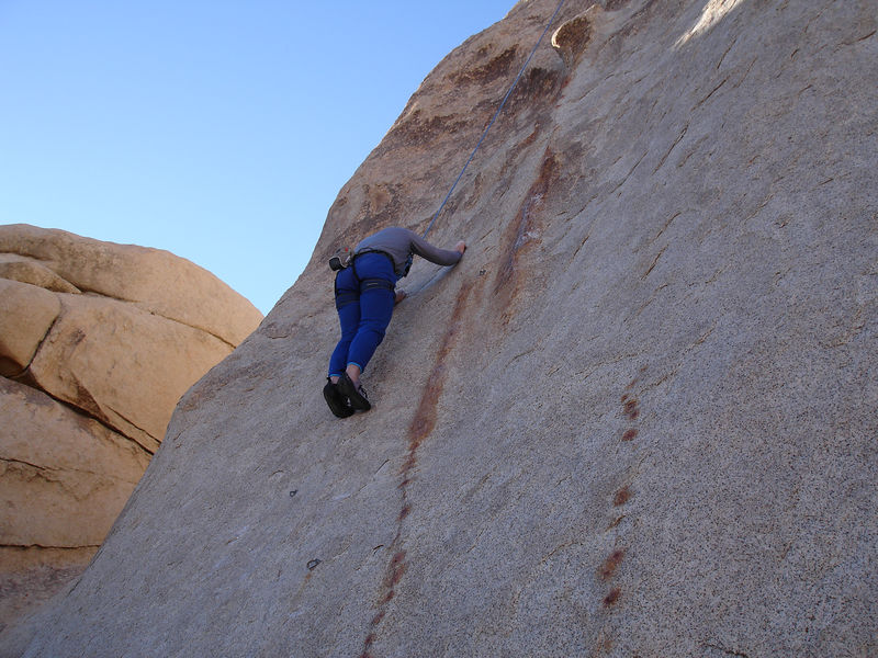 Tony on Papa Woosley (5.10b): Hidden Valley Campground, The Blob - East Face.