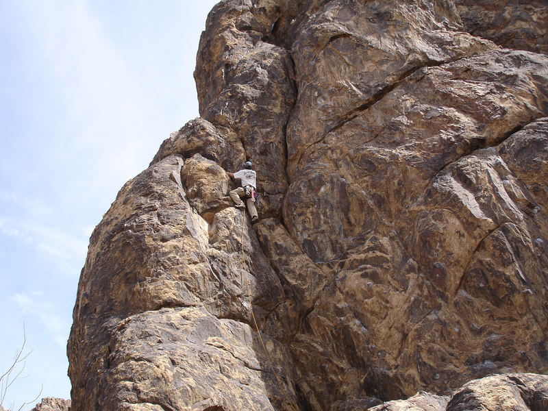 Brian on lead—Rob's Romp (5.9).