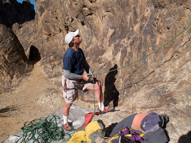 Joe belaying.