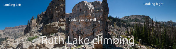 Ruth Lake Climbing area