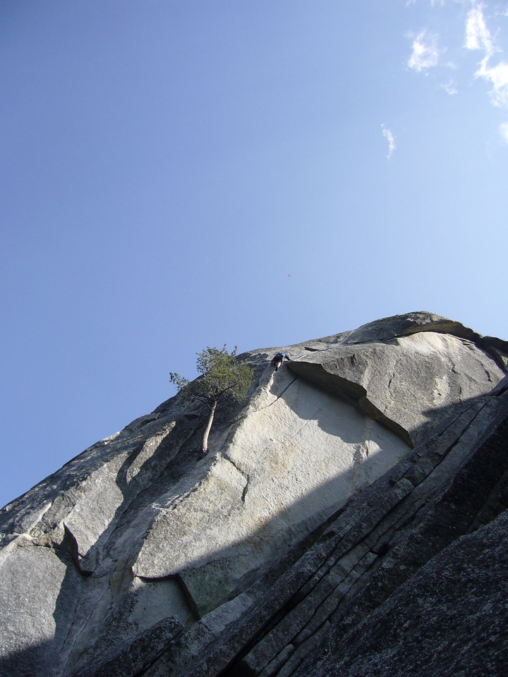Tony making the roof move on Flower of High Rank 5.9 Suicide Rock.
