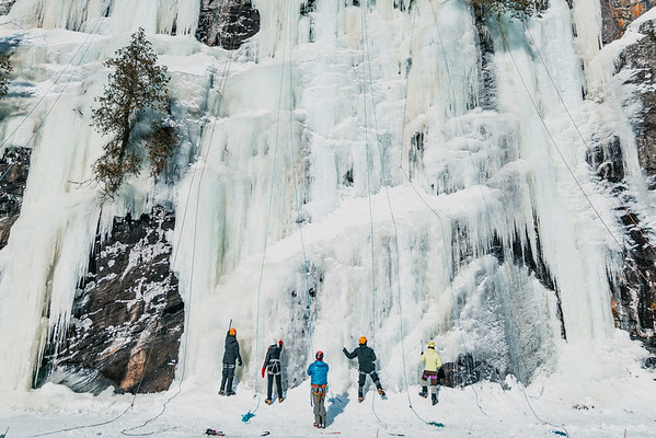 Ice Climbing at Southern Ontario Ice Festival 2019