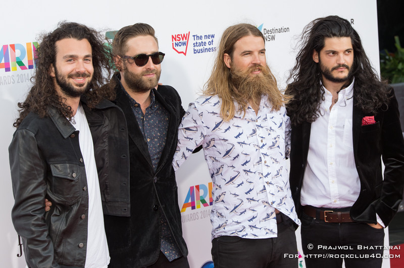 2014 ARIA Awards Powered by Telstra Red Carpet Arrivals.