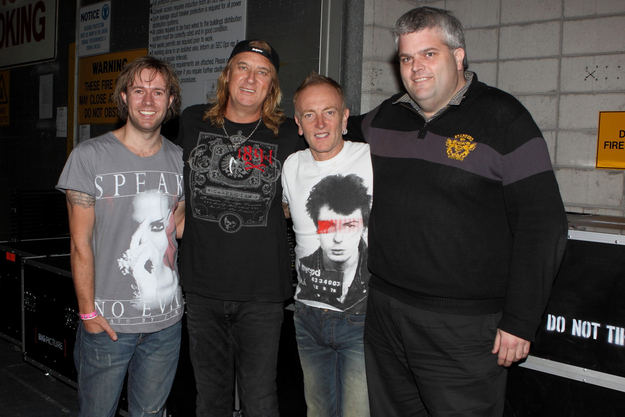 Joe and Phil at backstage meet and greets