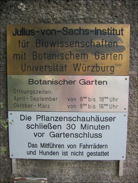 Botanische Garten, Julius von Sachs Institut, Wurzburg