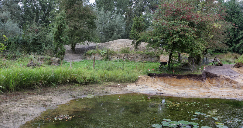 The space for the amphibians and reptiles shelter is dug out