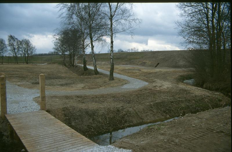 """water stream """"Achtse loop"""" and hike-bridge"""