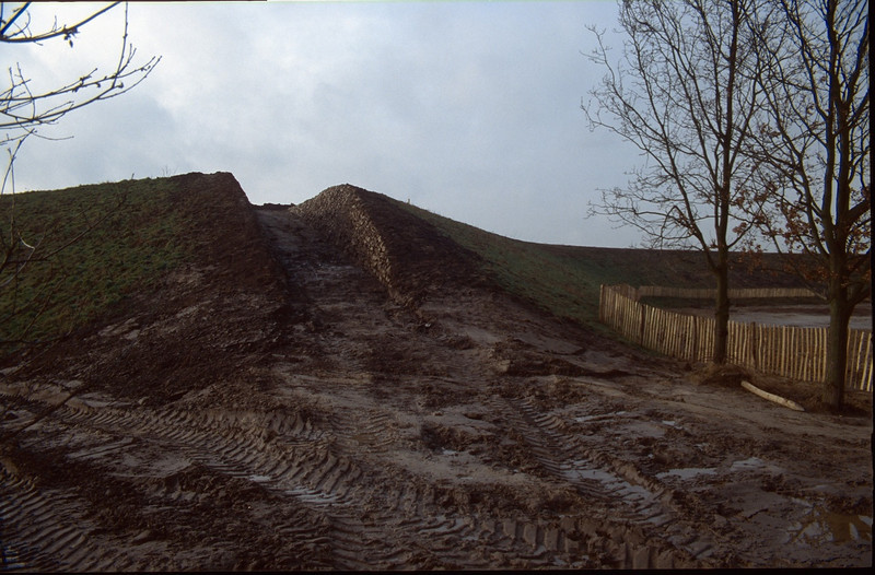 sound barrier with path and pile stones