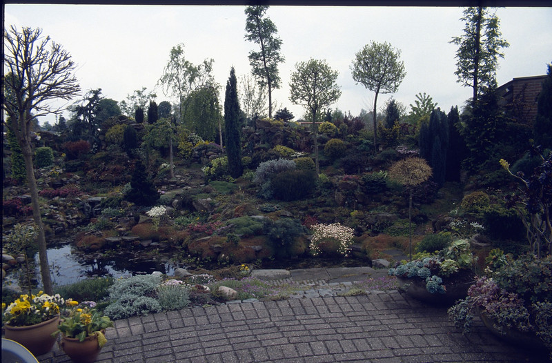 terrace and rock garden, Jan Lubbers