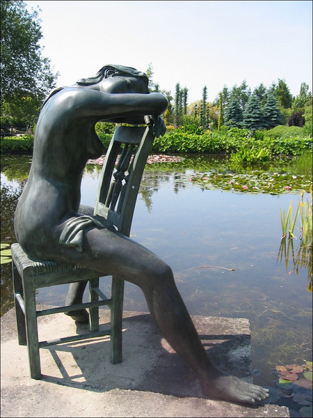 Statue garden (Pondgarden Ada Hofman, Loozen)