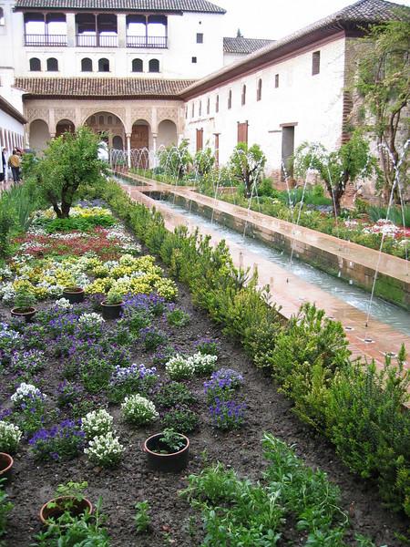 Alhambra Gardens (Granada Andalusie)