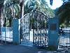Gate of the Botanic Garden (Jardin Canaria near Las Palmas N.E. Gran Canaria)