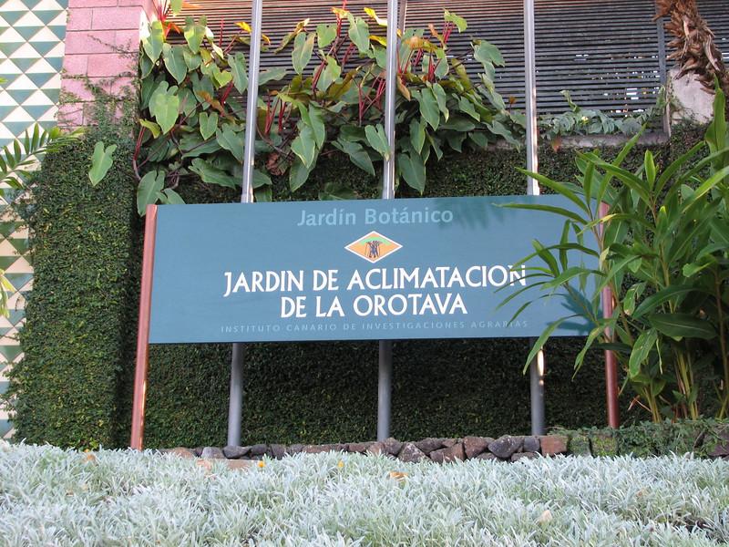 Botanic Garden of Puerto de La Cruz (Tenerife)