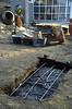 preparation concrete casting (construction rock garden 1991)