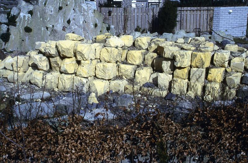 marl blocks 20 x 25 x 40 cm (construction rockgarden 1992)