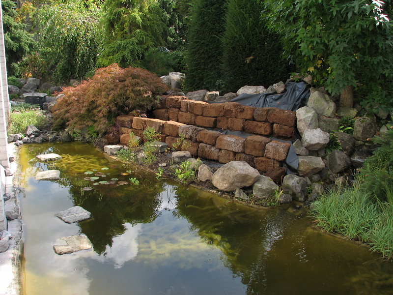 peat walls (creation peat/woodland garden 2007)