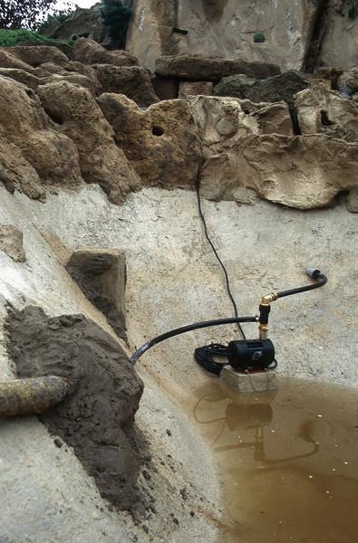 pomp installation (water flow) 6 m3 / h ( construction rockgarden 1992)