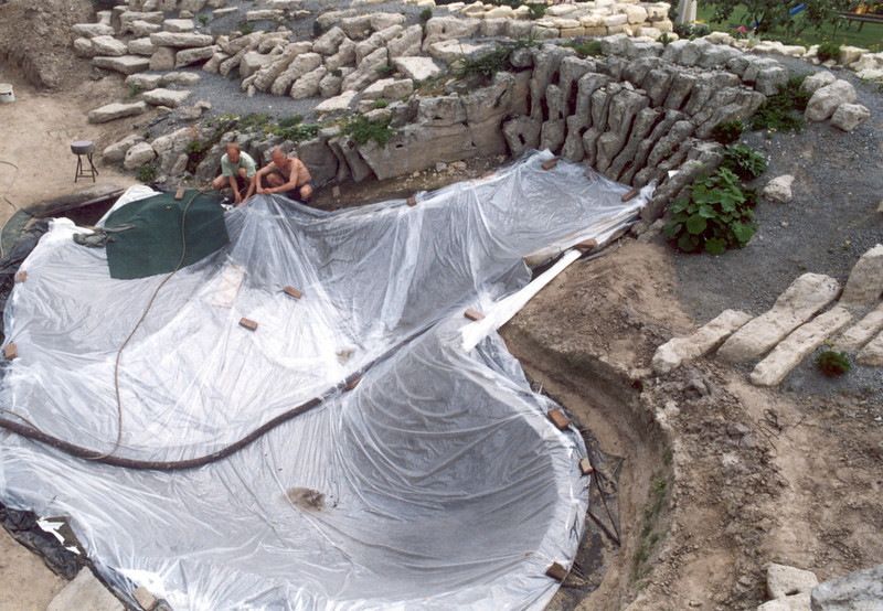 connection pond - peat bed (construction rockgarden 1992)