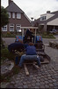 transport of stones into my garden (assistance of Pietje, Ben and.....  construction rockgarden 1993)