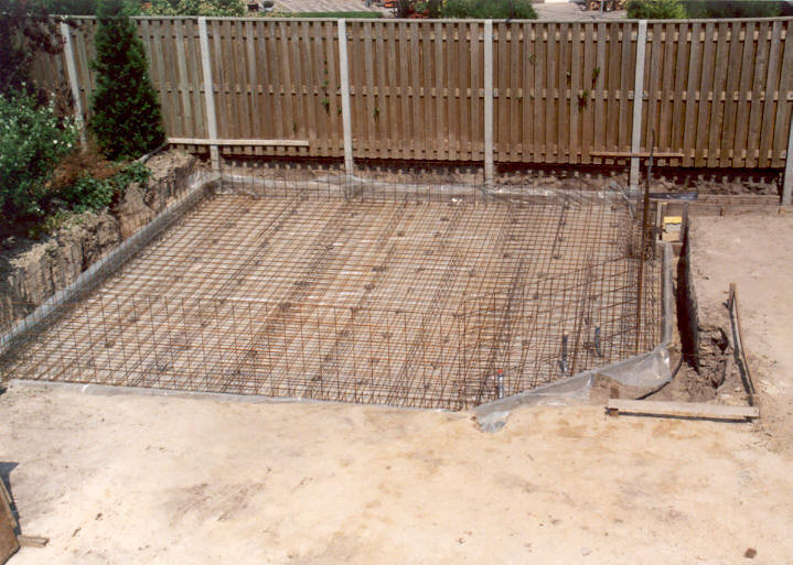 Reinforced slab foundation