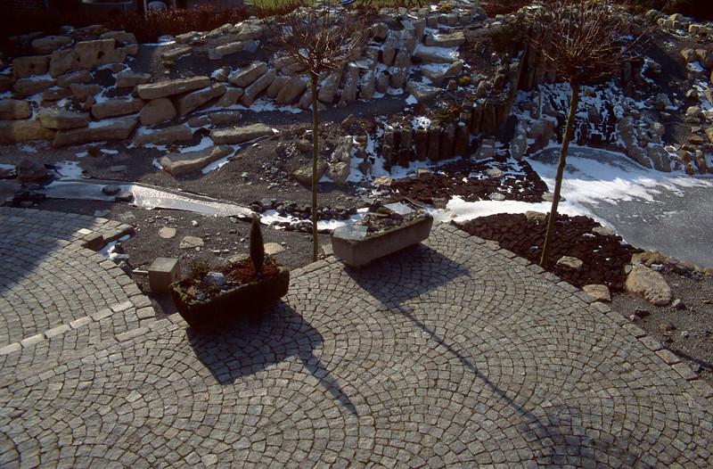 pattern of the terrace (construction rockgarden 1992)