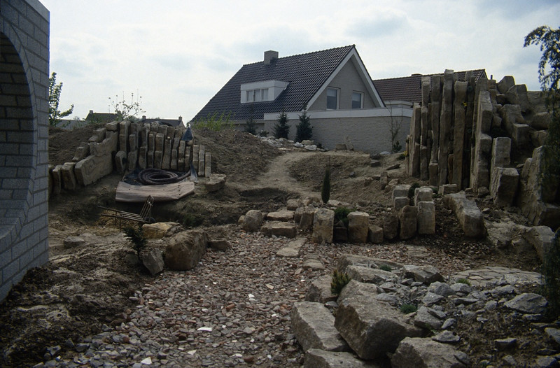 view in the backyard ( construction rockgarden 1992 )
