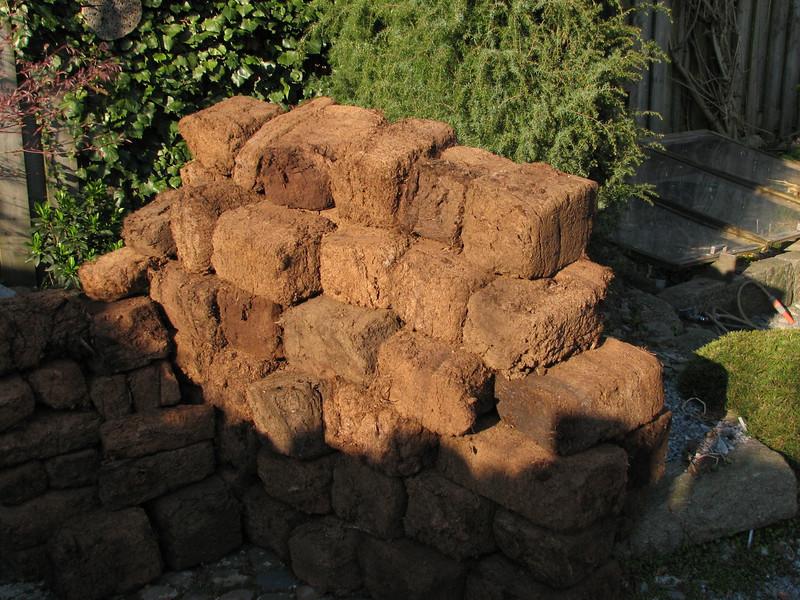 Swedish peat blocks