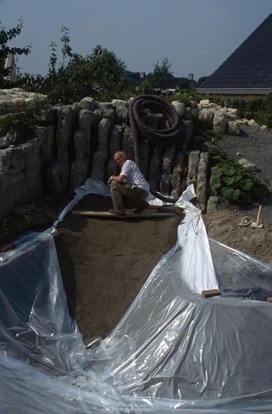my garden assistant Henk van de Bogaart (construction rockgarden 1992)