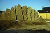 the 6 rock slabs of hypertufa, the tufawall (construction rock garden 1991)