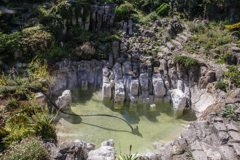 Realistic natural pond bottom