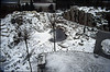 overview rock garden in wintertime 1992-1993 (  construction rockgarden 1993)