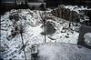 overview rock garden in wintertime 1992-1993 (  construction rockgarden 1993)
