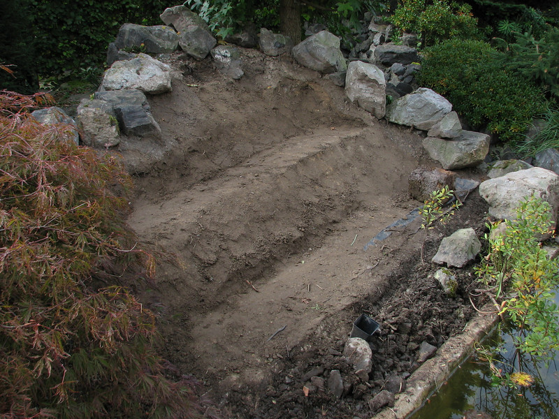groundwork with hill-treads (creation peat/woodland garden 2007)