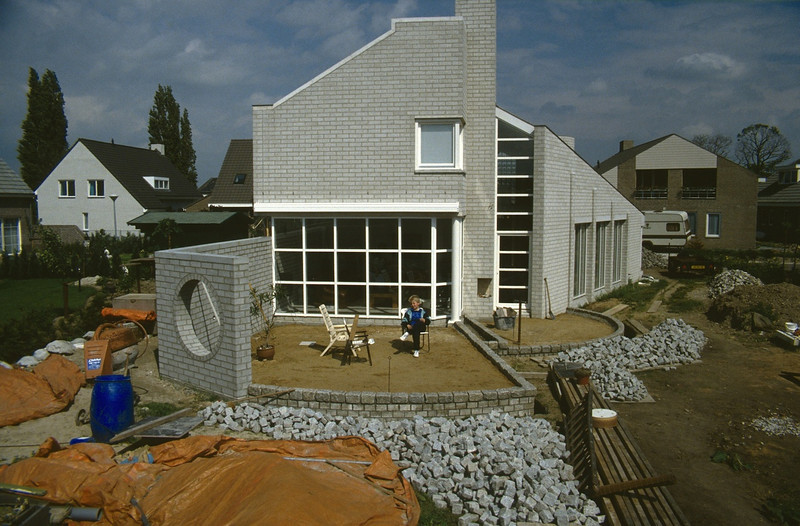 the backside of the house, terraces ( construction rockgarden 1992   )