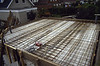 Reinforcement of the 6x6m garden shed roof. Ready for casting.