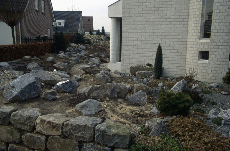 view at the front garden (  construction rockgarden 1993)