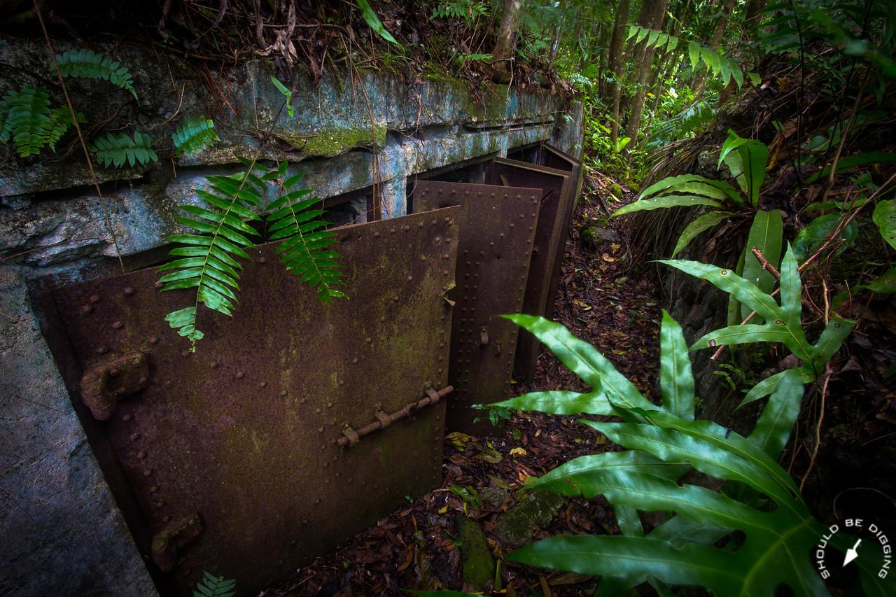 WWII Japanese fortifications on Ngeruktabel, Palau