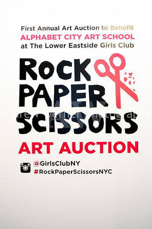 Rock Paper Scissors Art Auction 3.30.16
