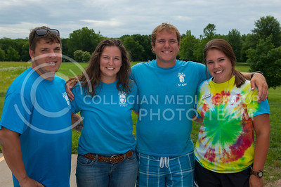 From left Michael Whitman, Hannah Fry, Christopher Tharman, and Allie Johnston at the Rock Springs 4-H Center in Junction City, Kan. July 3, 2017. The center is a camp, conference and retreat that includes more than 700 acres in the Kansas Flint Hills and is run by the Kansas 4-H Foundation.(Justin Wright   The Collegian)