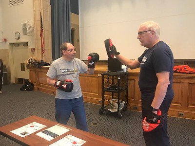 Rock Steady Boxing Demo at Helen Hayes