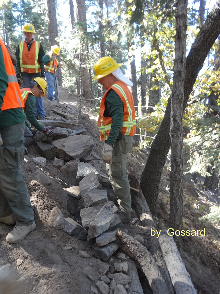 """Beginning of retaining wall for """"The Rock"""" spot."""