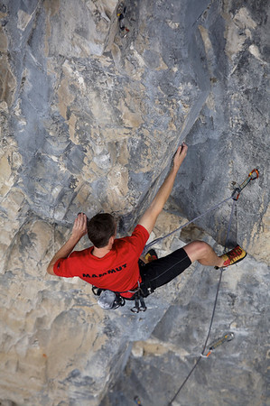"""Marc Bourdon on the first pitch of """"Shooting Star"""" 11a"""