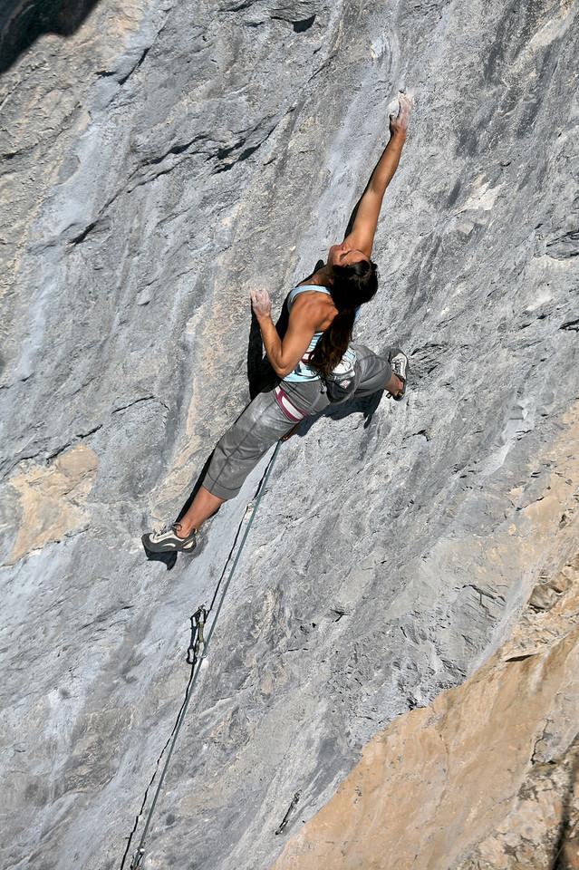 "Kelly Drager on ""Zeitgeist"" 5.12d Sector Bellavista, Echo Canyon"
