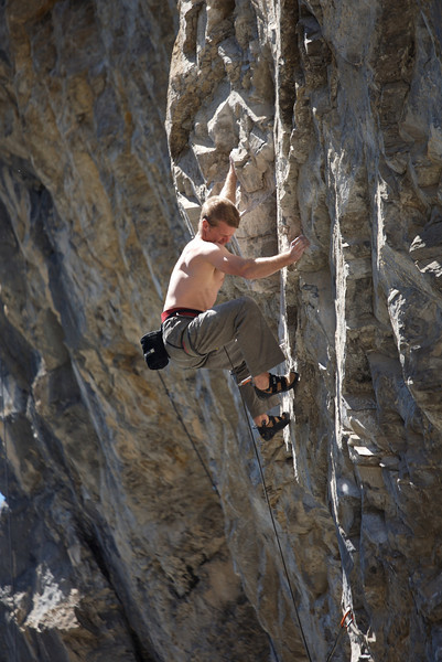 Scott Semple on Respected Silence, another 12c at the Lookout