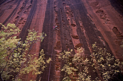 """Huecos Rancheros"", a 45m long 12c in Kolob Canyon, truly amazing"